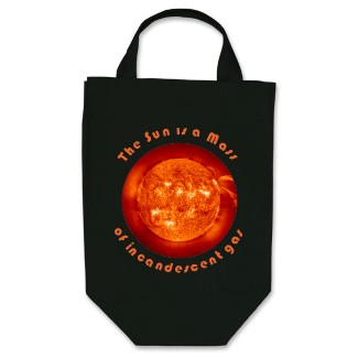 """The Sun is a Mass..."" Grocery Bag"