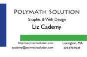 Liz Cademy business card