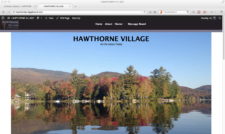 Hawthorne Village Home Page screenshot